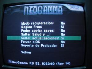"""Opciones de Rebooter: """"Activar Region Free y Saltas Actualizaciones"""""""